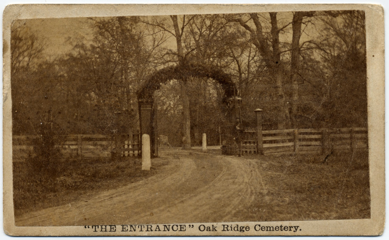 "Image: ""The Entrance"" Oak Ridge Cemetery"