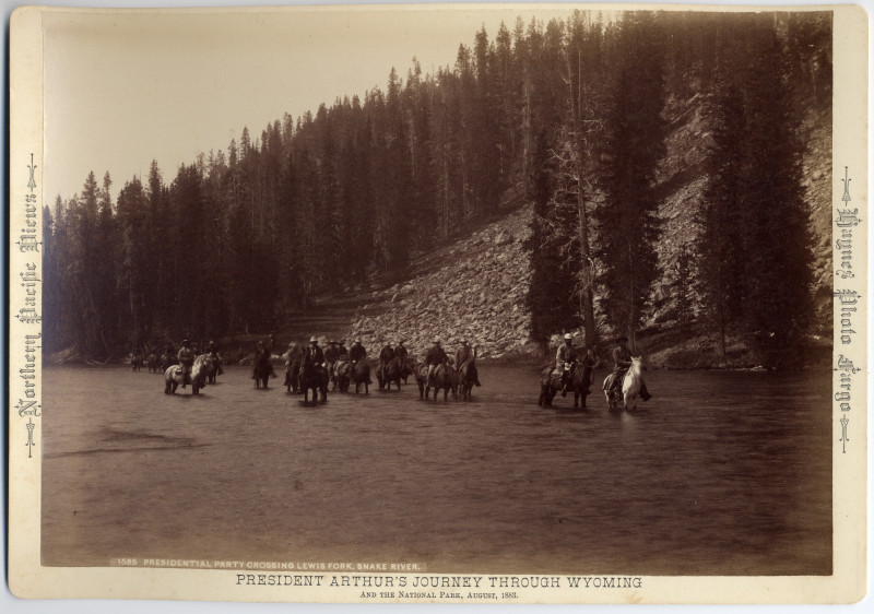 Image: Presidential Party Crossing Lewis Fork, Snake River