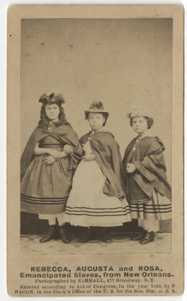 Image: Rebecca, Augusta and Rosa, Emancipated Slaves, from New Orleans