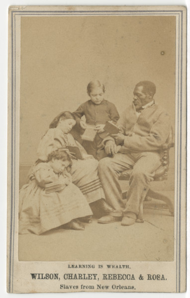 Image: Wilson, Charley, Rebecca & Rosa, Slaves from New Orleans