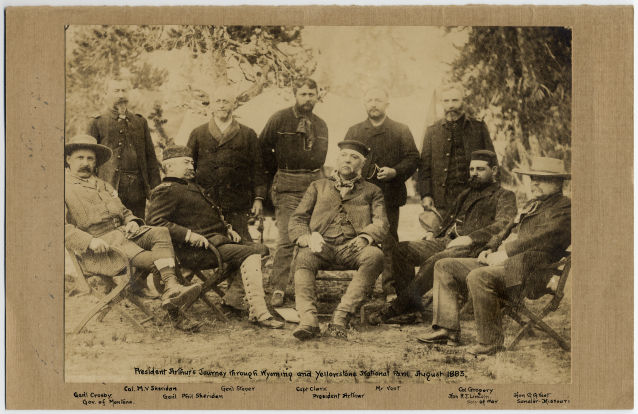 Image: Robert Todd Lincoln with Group from President Arthur's Journey through Wyoming and Yellowstone National Park.