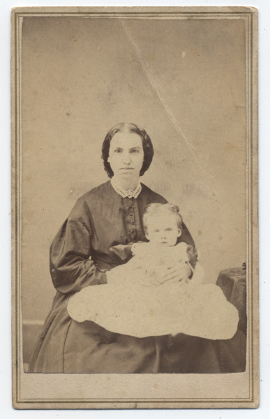 Image: Unidentified woman holding infant