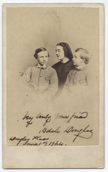 Image: Adèle Cutts Douglas and her two sons