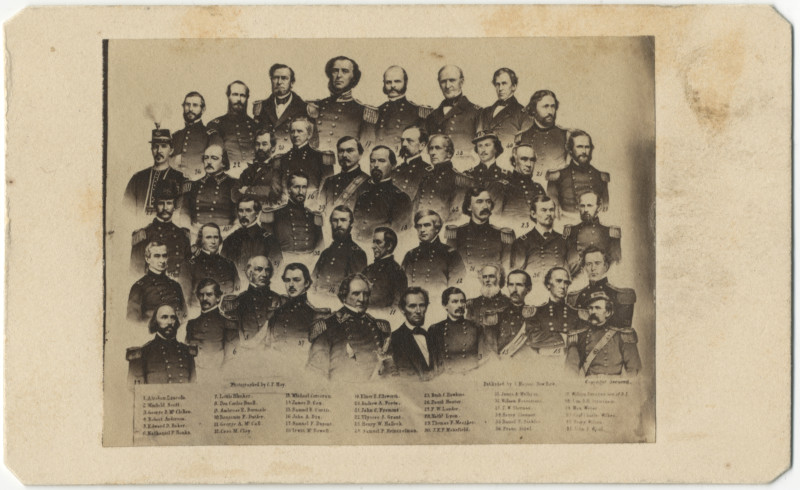 Image: Abraham Lincoln and His Union officers