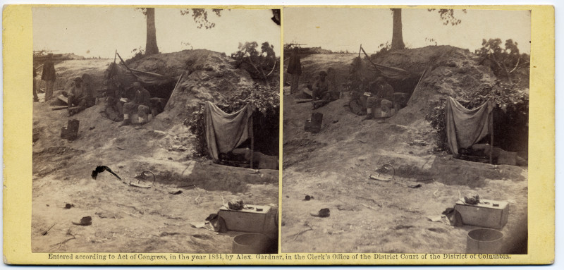 Image: A Bombproof Tent in front line in front of Petersburg, Va., August 7, 1864