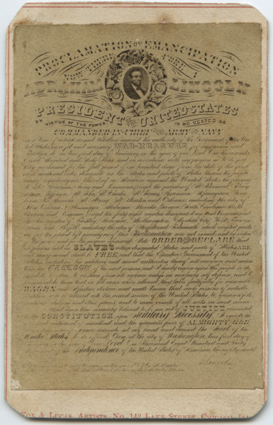 Image: Proclamation of Emancipation