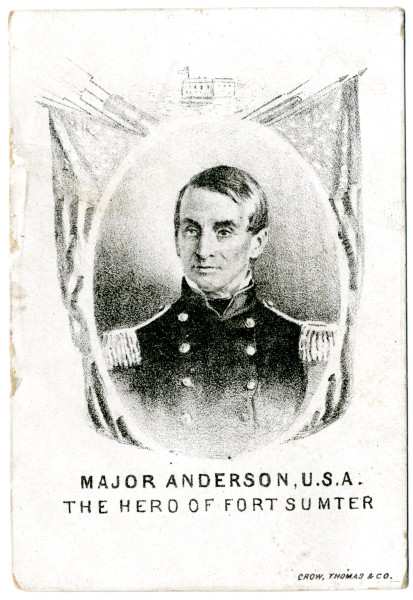 Image: Major Anderson, U.S.A. The Hero of Fort Sumter