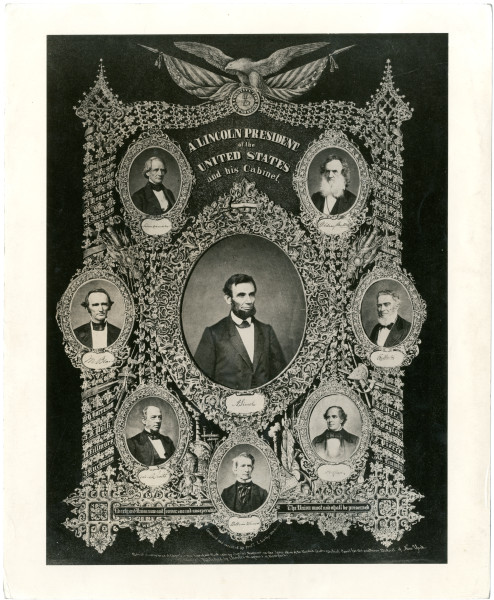Image: A. Lincoln, President of the United States, and his Cabinet