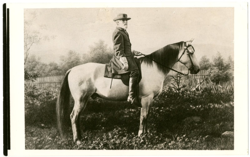Image: Robert E. Lee and his horse Traveller