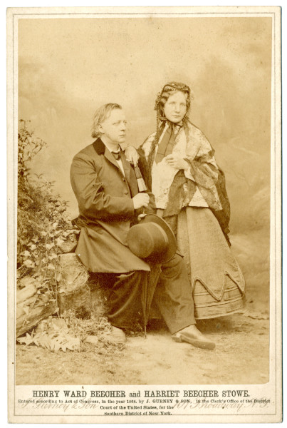 Image: Harriet Beecher Stowe and Henry Ward Beecher