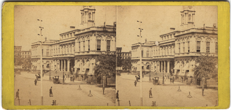 Image: View of the City Hall from Printing House Square