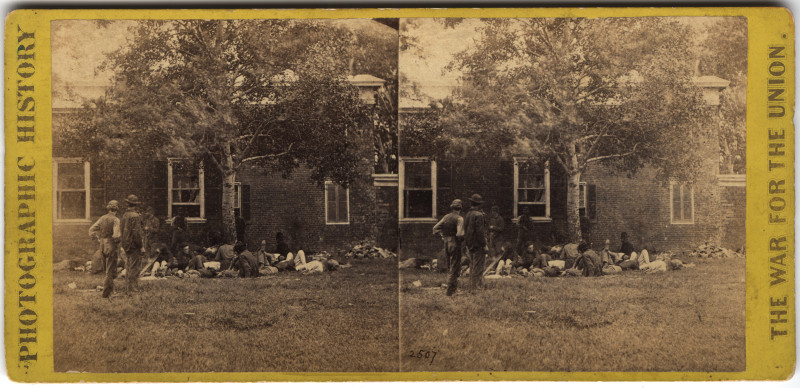 Image: Wounded at Fredericksburgh, Va.
