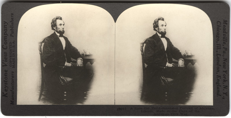 Image: A Rare Old Third-Dimension Portrait of Abraham Lincoln