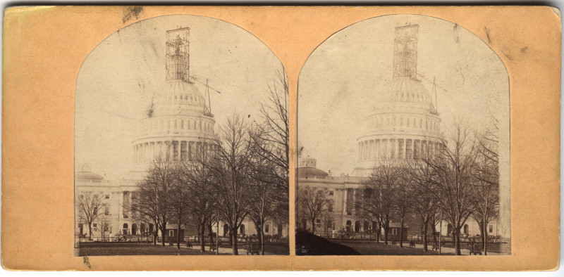 Image: U.S. Capitol with dome under construction