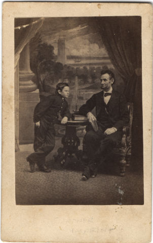 Image: Abraham and Tad Lincoln