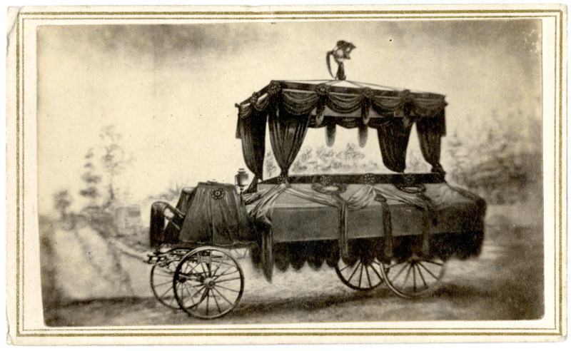 Image: Abraham Lincoln's funeral car, Washington, D.C.