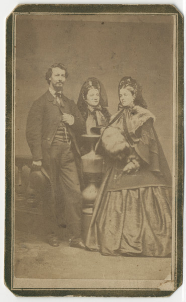 Image: John P. Baker, his wife Mary F. Baker, and her sister Frances Wallace