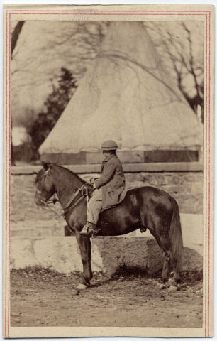 Image: Tad Lincoln on his pony