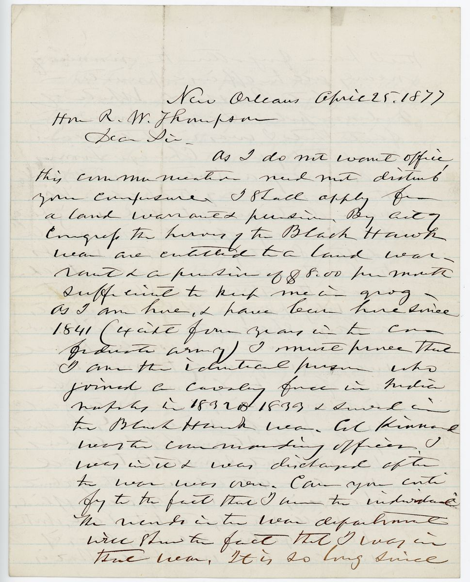 Image: Letter from John Livingston to Richard W. Thompson