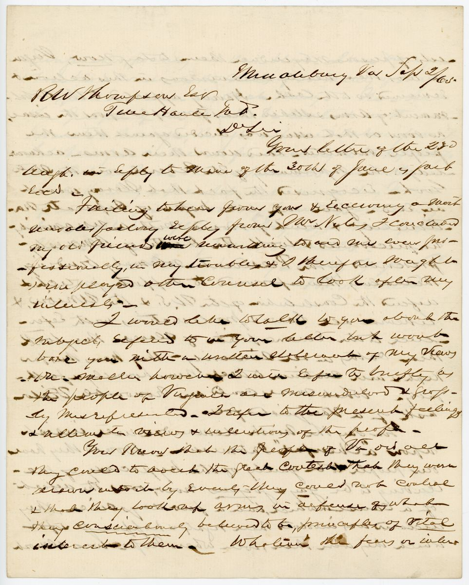 Image: Letter from B.P. Noland to Richard W. Thompson