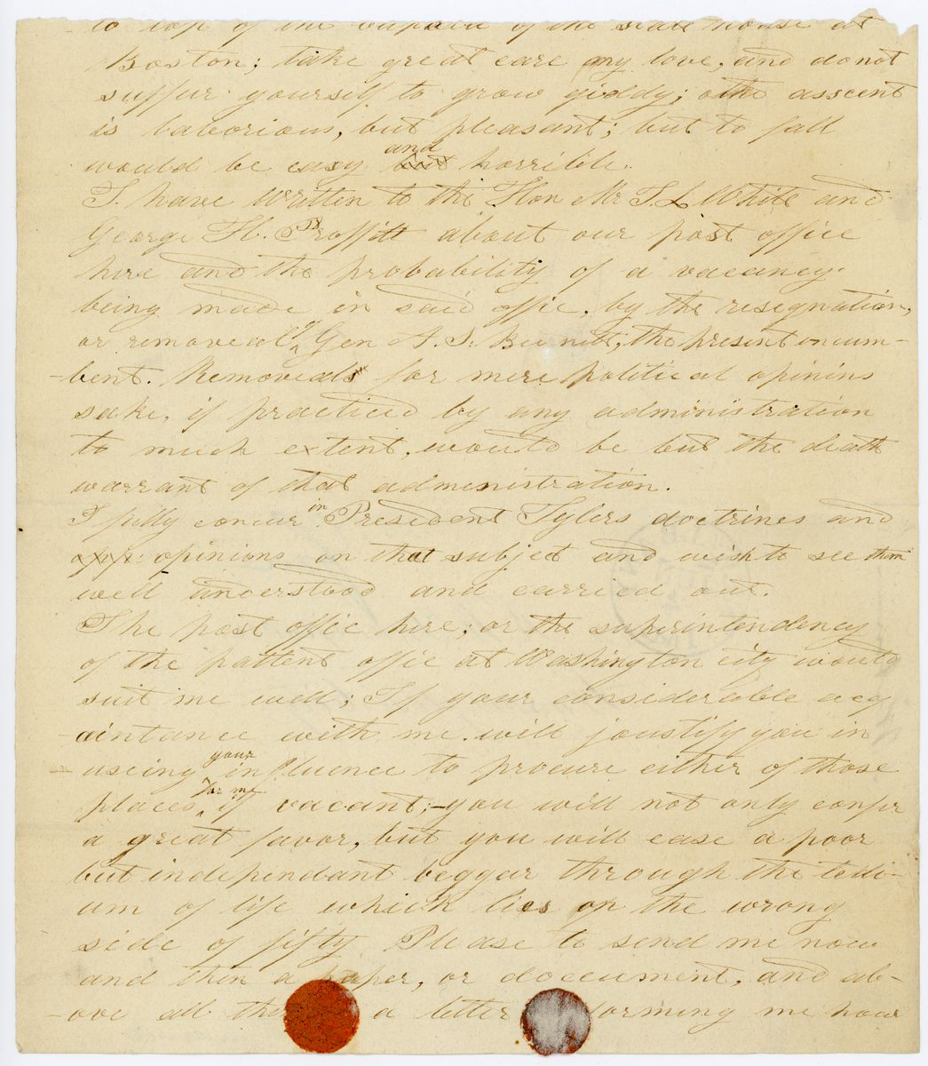 Image: Letter from S. Whitman to Richard W. Thompson