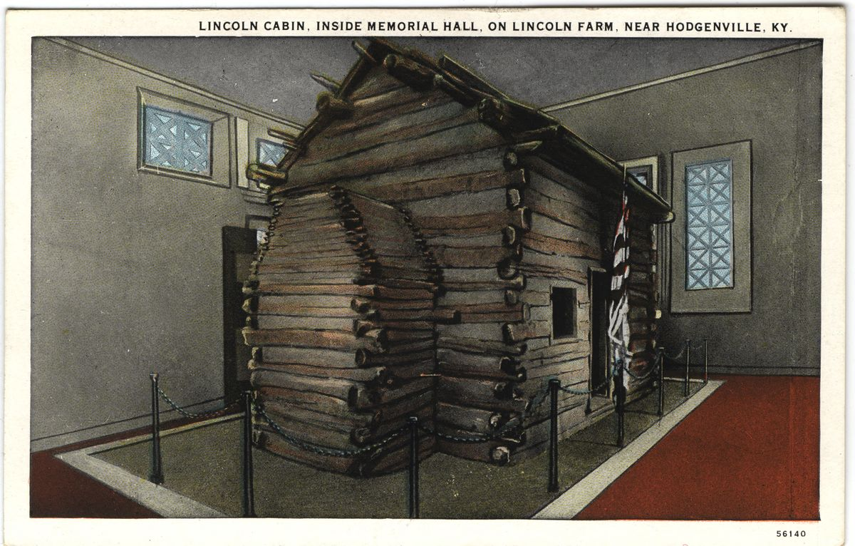 Image: Lincoln Cabin, Inside Memorial Hall