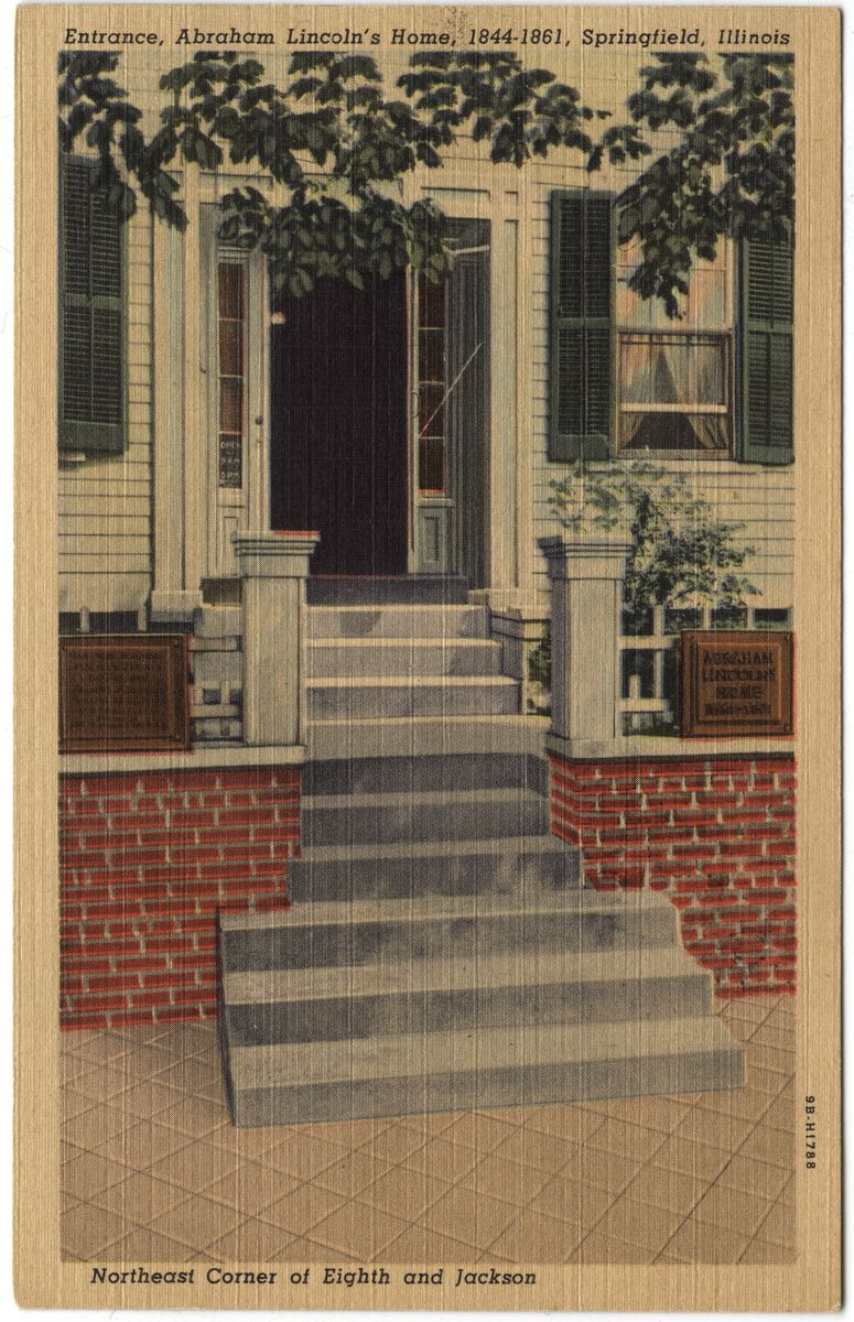 Image: Entrance, Abraham Lincoln's Home