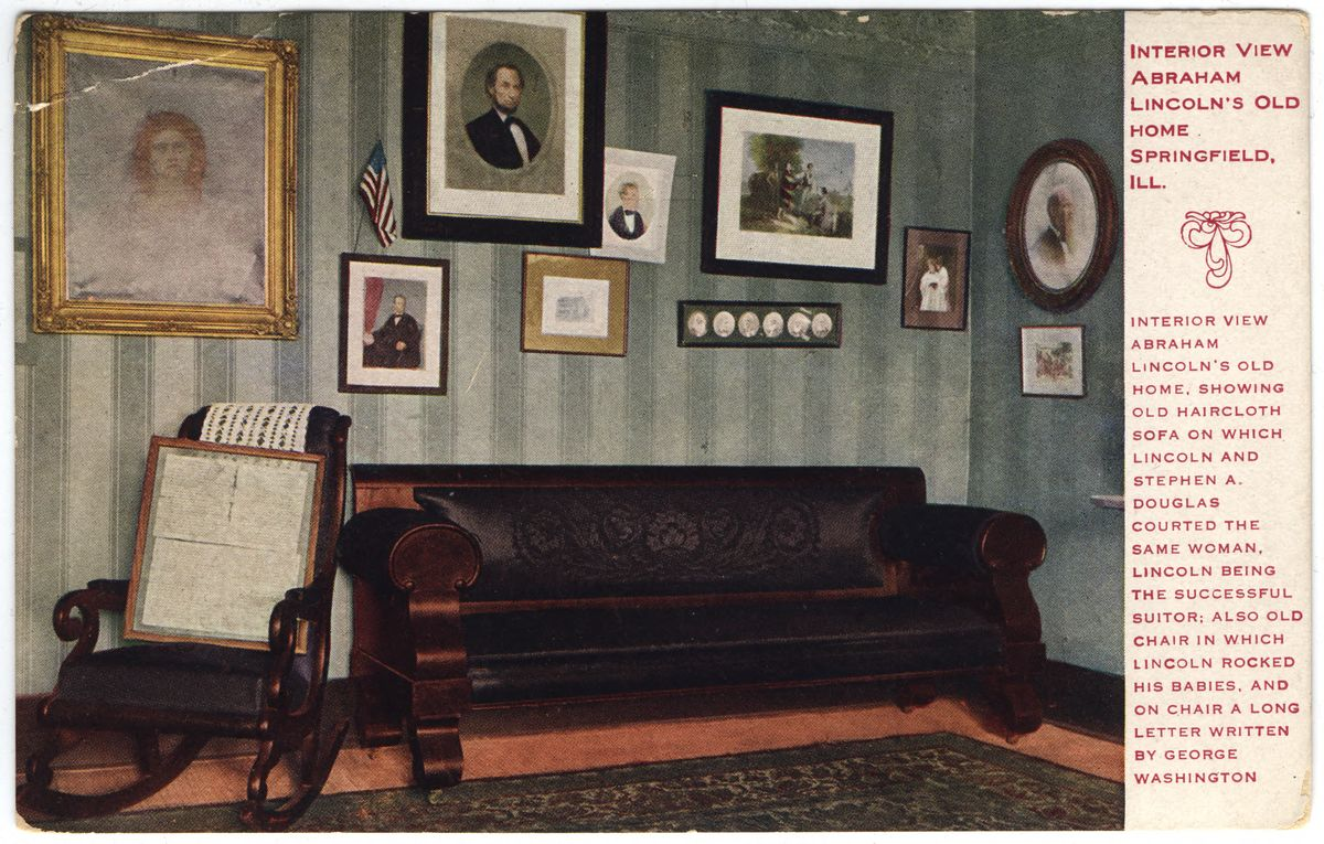 Image: Interior View, Abraham Lincoln's Old Home