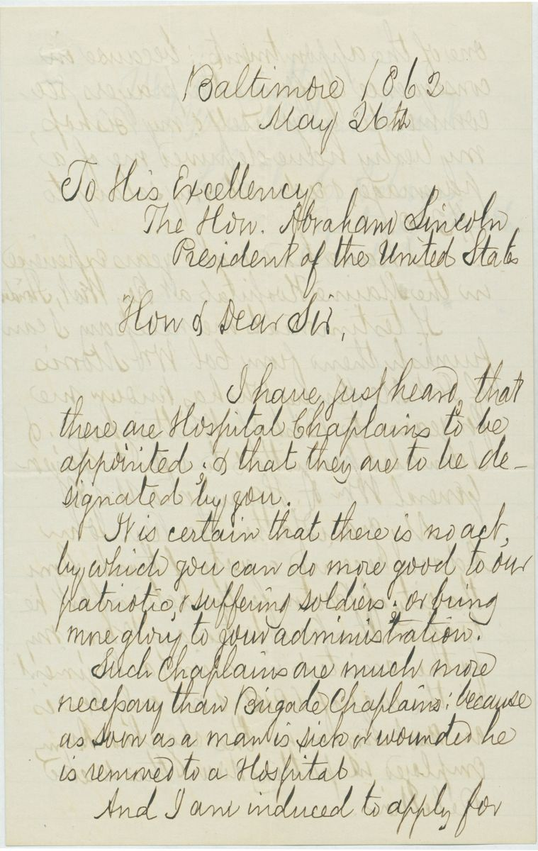 Image: Letter from Charles C. Adams to Abraham Lincoln