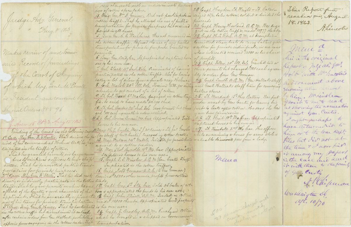 Image: Record of Proceedings of the Court of Inquiry Convened by Special Orders 88 & 96.