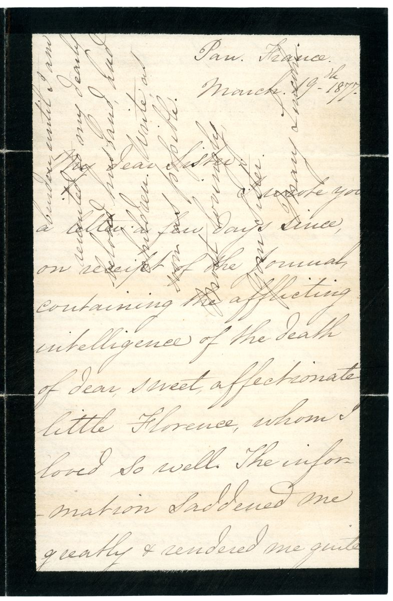 Image: Letter from Mary Todd Lincoln to Elizabeth Todd Edwards