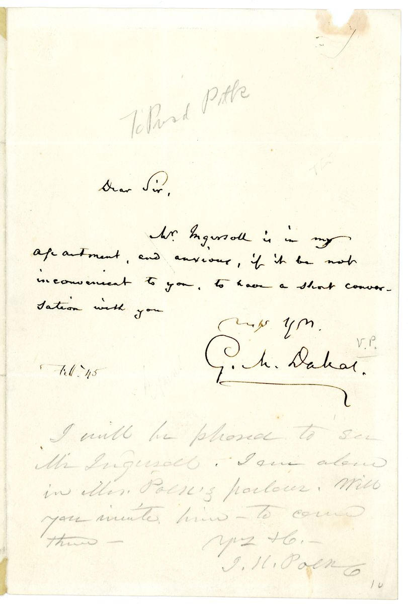 Image: Letter from George M. Dallas to James K. Polk