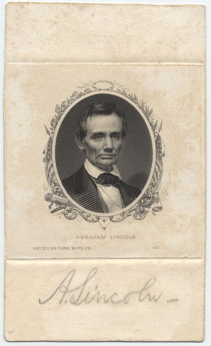 Image: Signed Engraving of Abraham Lincoln