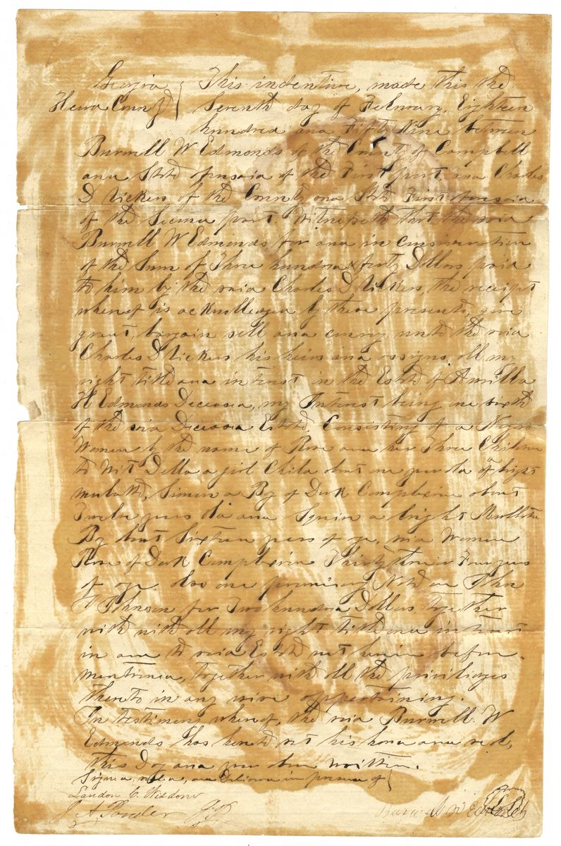 Image: Slave Bill of Sale