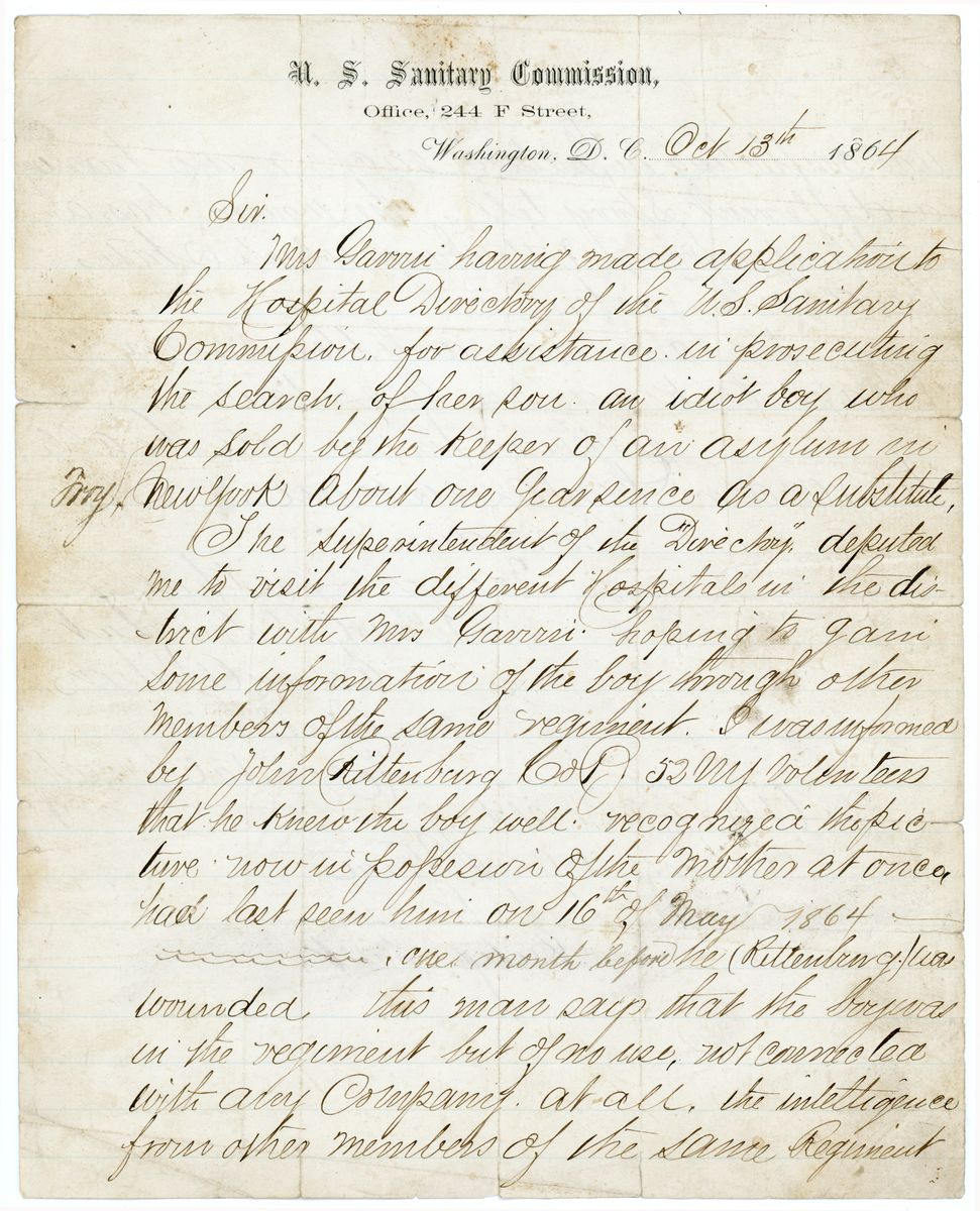 Image: Letter from Edwin A. Wilson to Alex McDonald