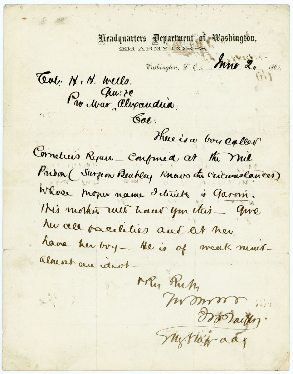 Image: Letter from J.H. Taylor to H.H. Wells