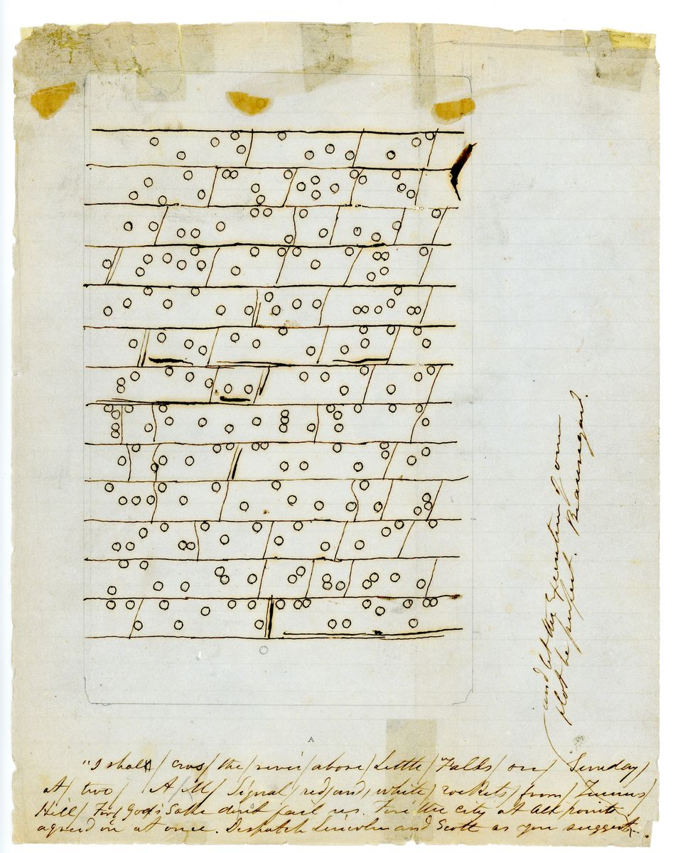 Image: Cipher Dispatch from General P.G.T. Beauregard