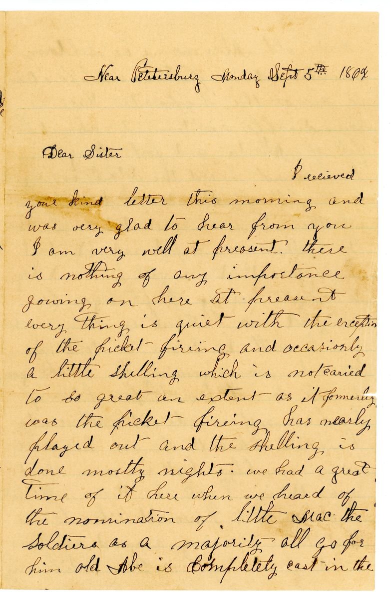 Image: Letter from Alfred Carmon to Charlotte Carmon
