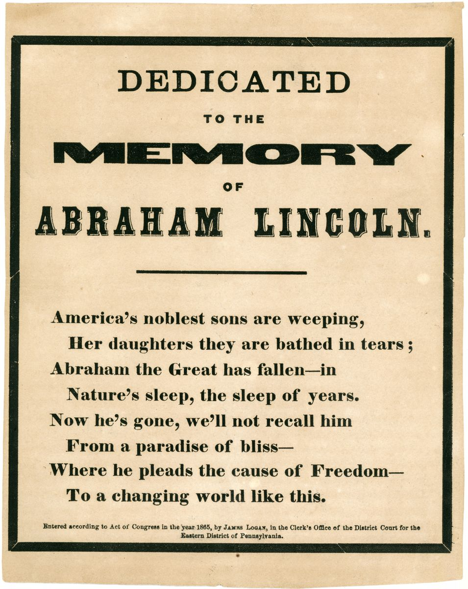 Image: Dedicated to the Memory of Abraham Lincoln