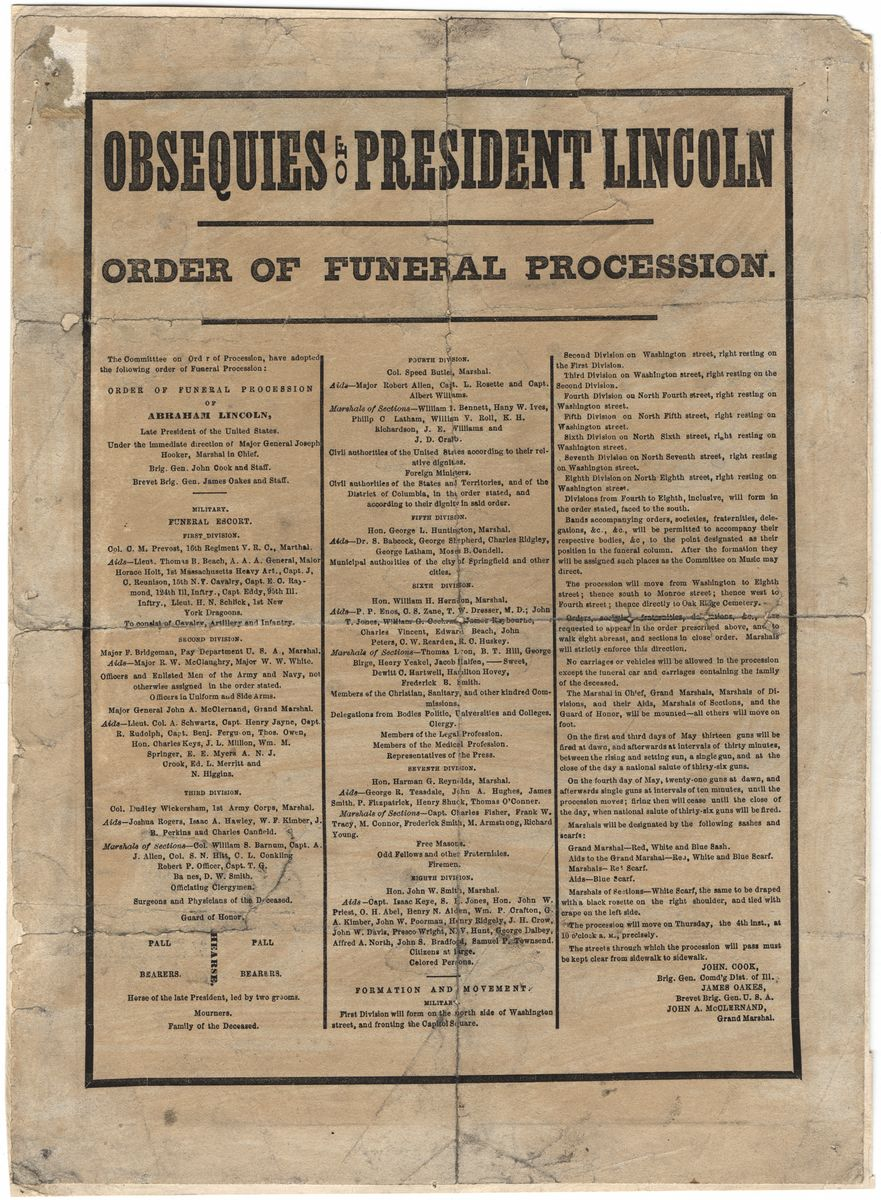Image: Obsequies of President Lincoln