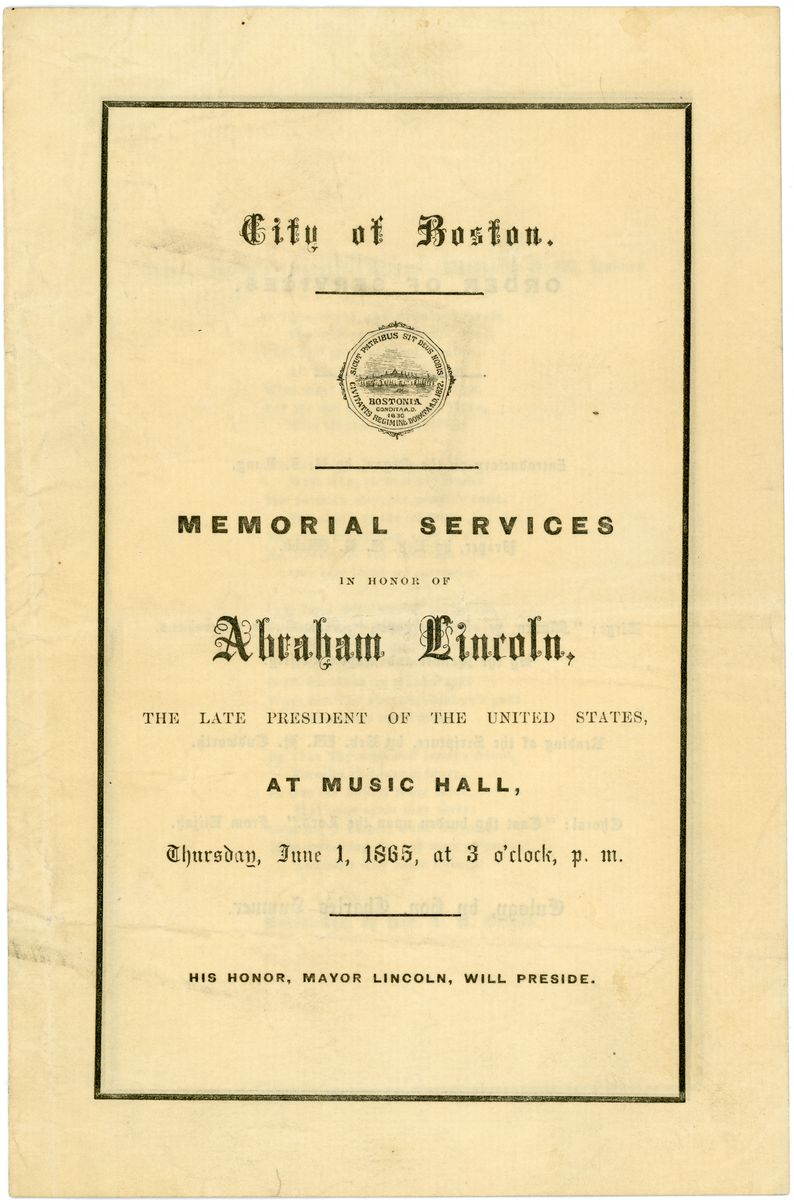 Image: Memorial Services in Honor of Abraham Lincoln