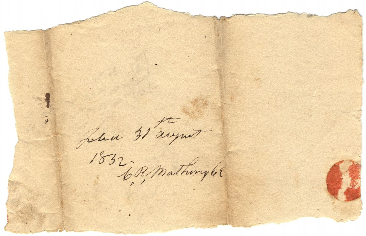 Image: Docketed fragment in Pollard Simmons vs. Jacob Bale