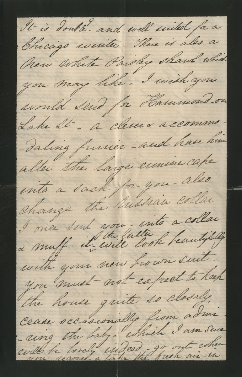 Image: Letter from Mary Todd Lincoln to Mary Harlan Lincoln
