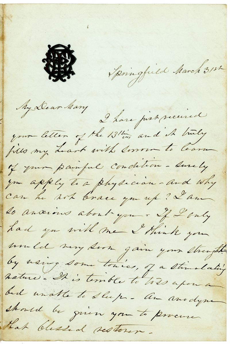 Image: Letter from Elizabeth Todd Edwards to Mary Todd Lincoln