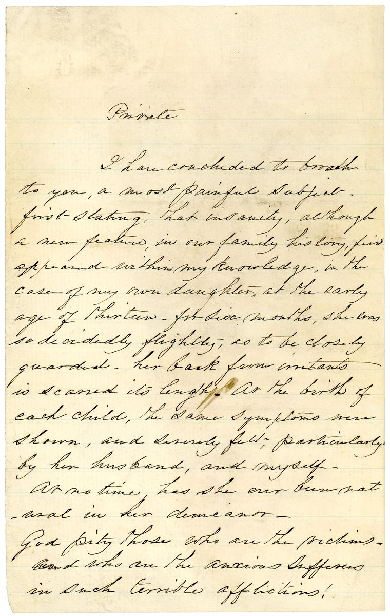 Image: Note from Elizabeth Todd Edwards to Robert Todd Lincoln