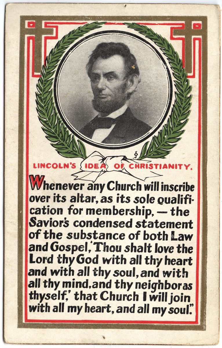 Image: Lincoln's Idea of Christianity