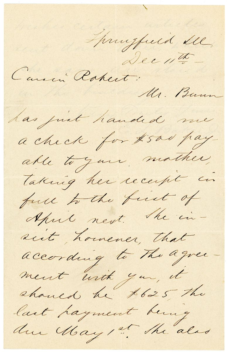 Image: Letter from Edward Lewis Baker, Jr., to Robert Todd Lincoln