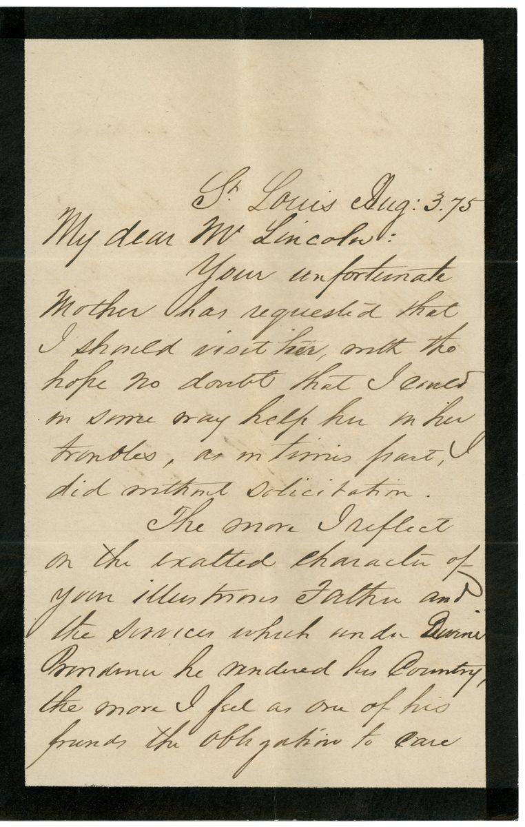 Image: Letter from Henry T. Blow to Robert Todd Lincoln