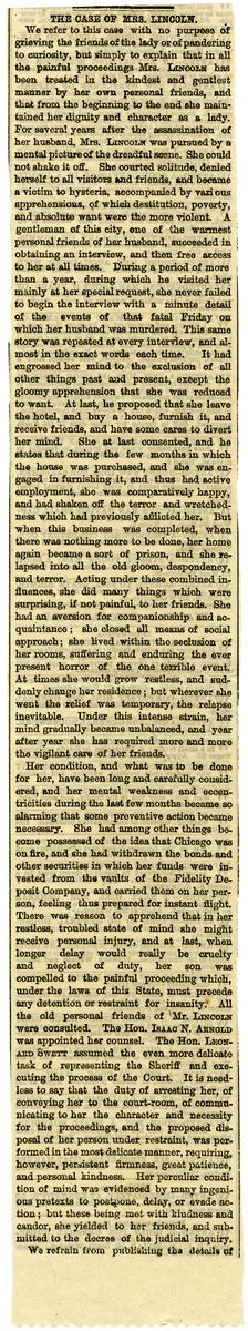 Image: The Case of Mrs. Lincoln