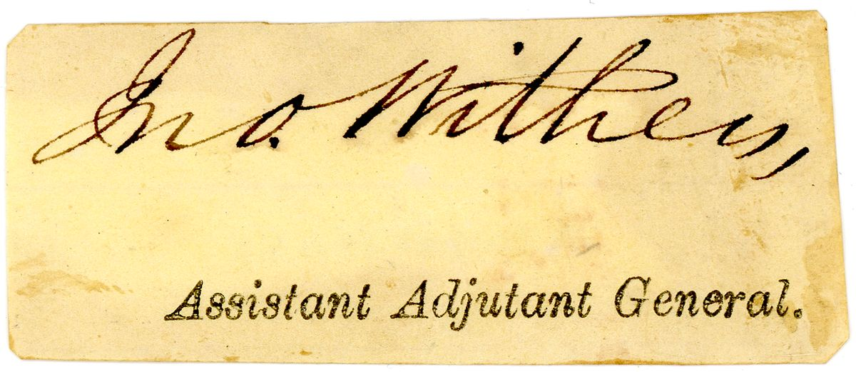 Image: Signature of John Withers